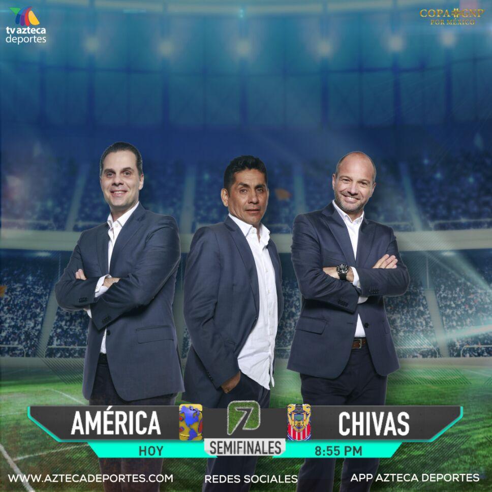1. Christian Martinoli, Luis García y Jorge Campos estarán en la transmisión.