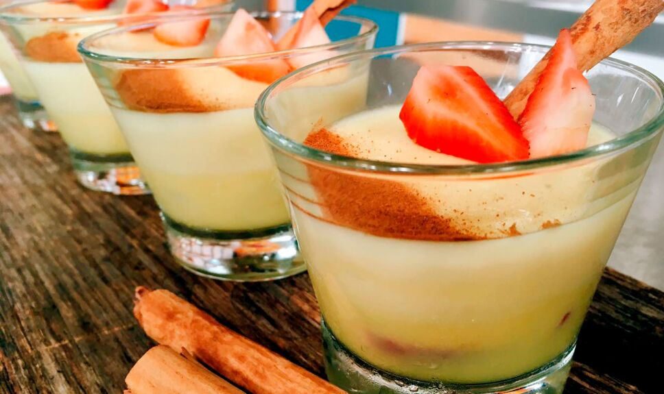 receta gelatina rompope y canela