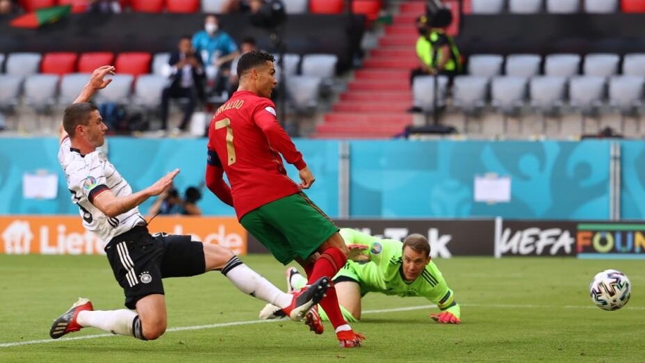 Cristiano Ronaldo ante Alemania
