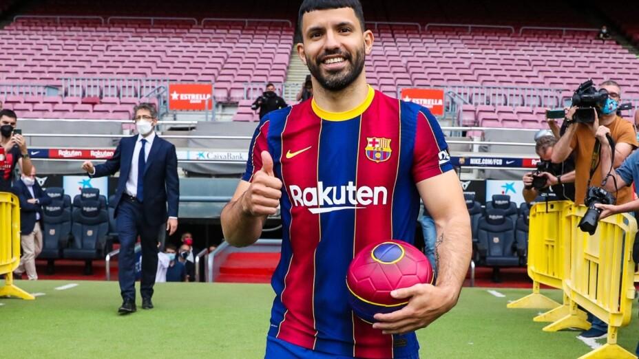 Kun Aguero con el Barcelona