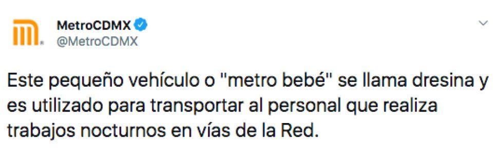 """La CDMX cuenta con un """"metro bebé"""" y para esto sirve"""
