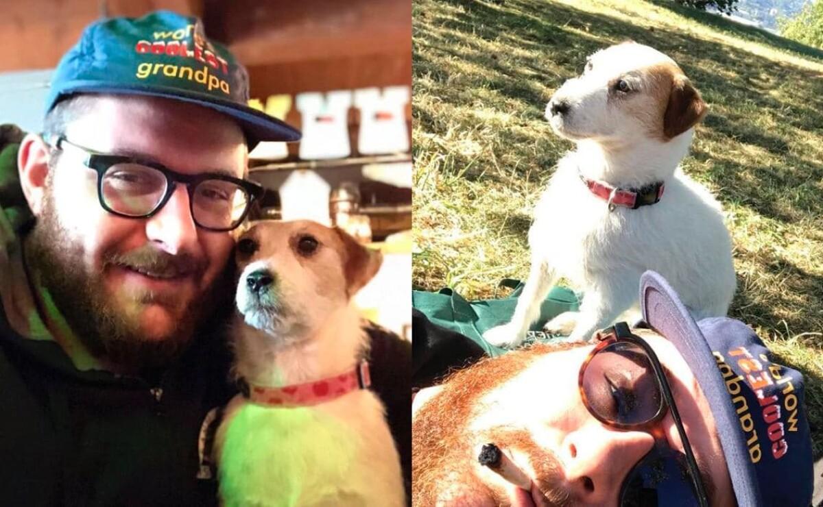Hombre viaja a todos lados con Phoebe, su perra disecada