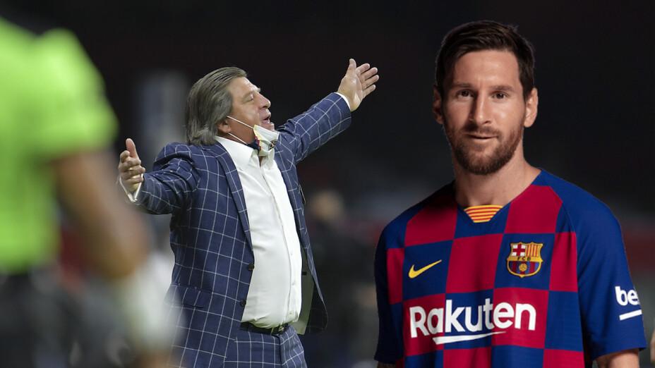 La estrategia de Miguel Herrera para traer a Lionel Messi a la Liga MX