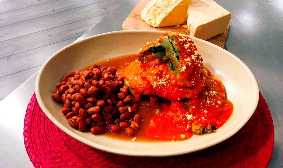 receta huauzontles en caldillo rojo