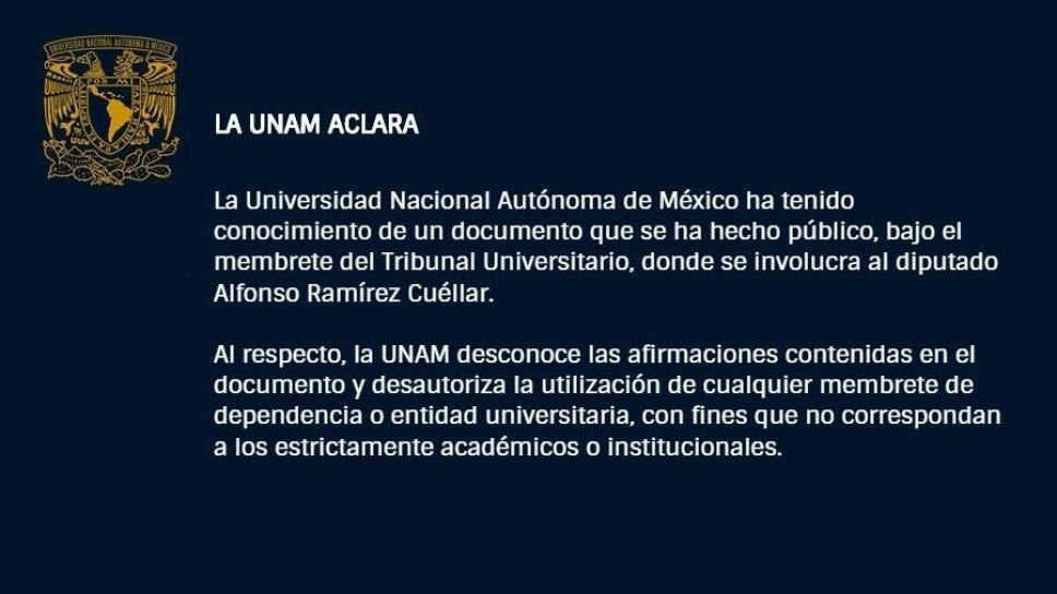 UNAM desconoce documento del Dr. López Betancourt