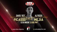 Alan David Rey Picasso Alfredo Mejía pelea de boxeo