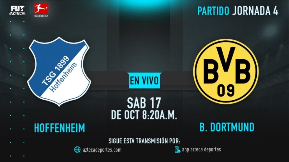 EN VIVO: Hoffenheim vs Borussia Dortmund | Jornada 4 de la Bundesliga