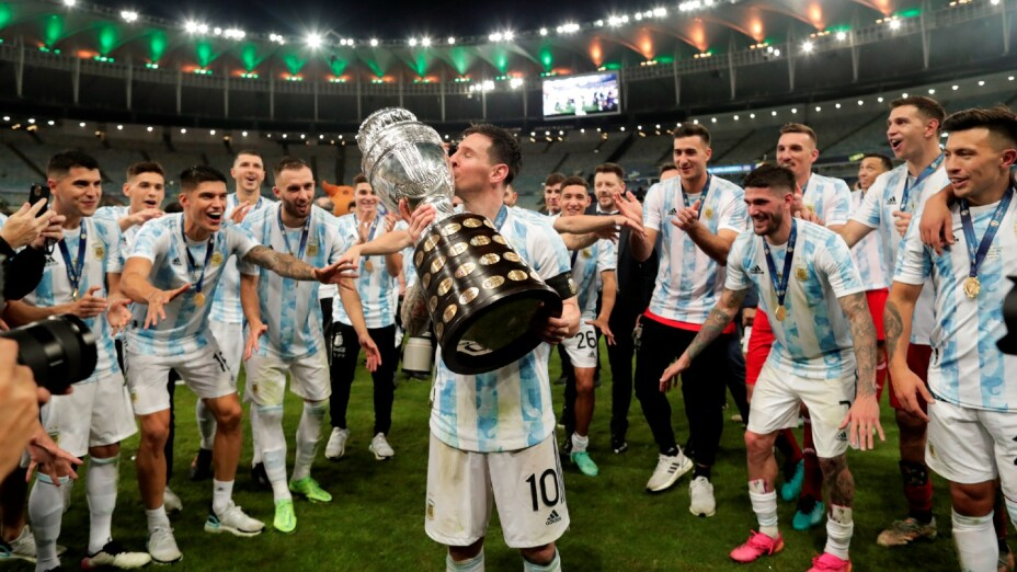 Messi, campeón con Argentina