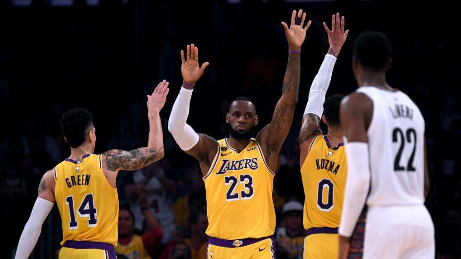 LeBron y Lakers  en temporada 2020