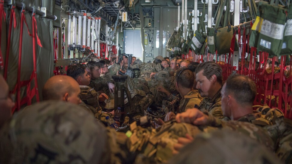 U.S. Army paratroopers deploy to provide airfield security at Manda Bay