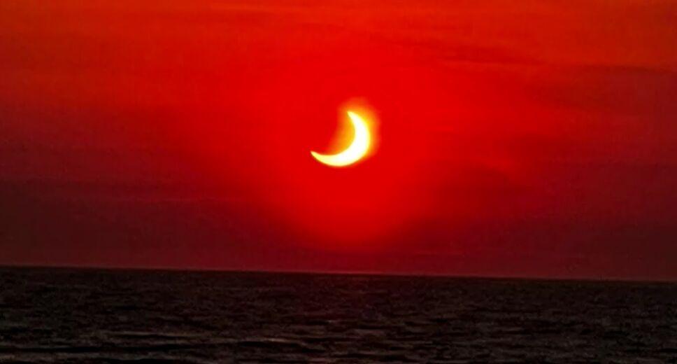 Eclipse solar parcial en Nueva Jersey