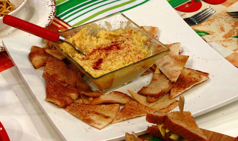 hummus de garbanzo, que hay de comer