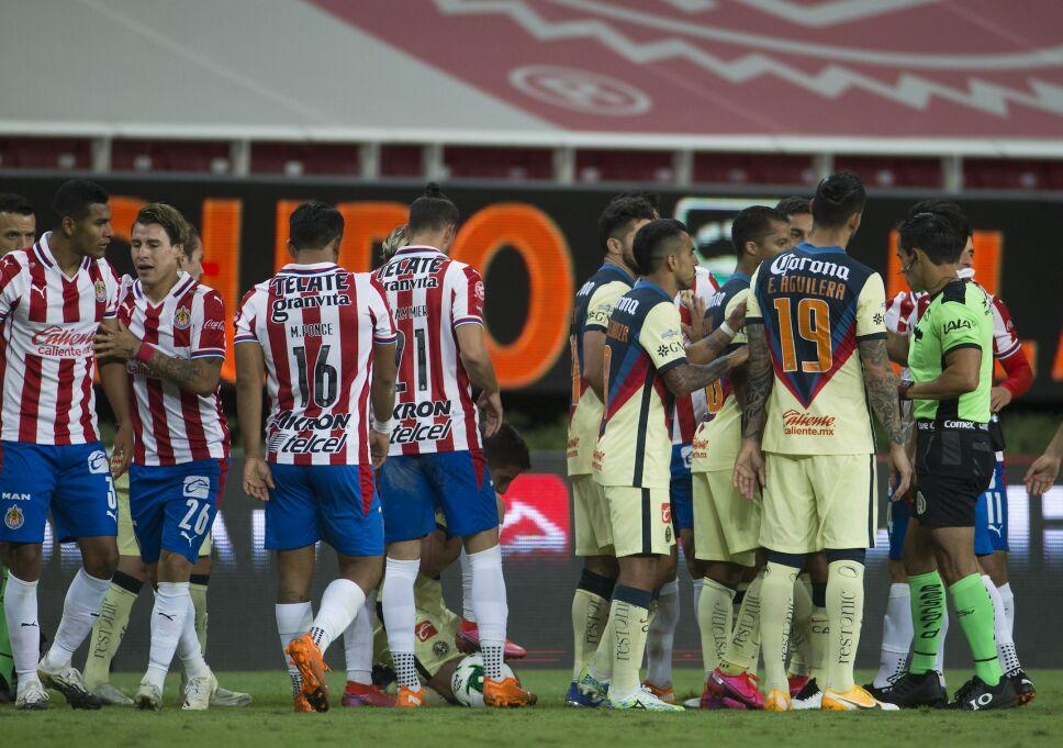 Alineaciones América vs Chivas