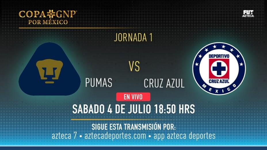 Pumas vs Cruz Azul y Chivas vs Atlas EN VIVO por aztecadeportes.com