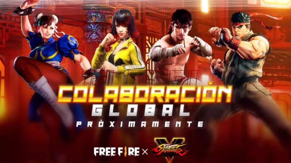 Free Fire colaboración con Street Fighter