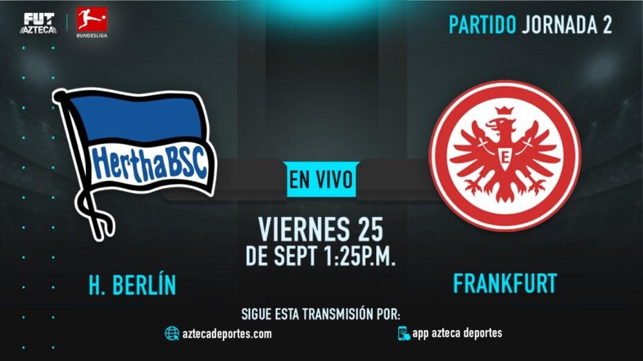 EN VIVO: Hertha Berlín vs Frankfurt en la Bundesliga