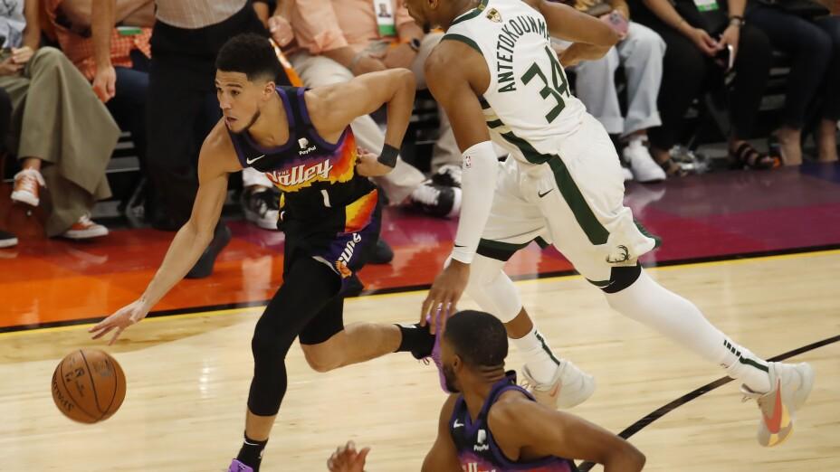 Devin Booker, en las Finales de la NBA