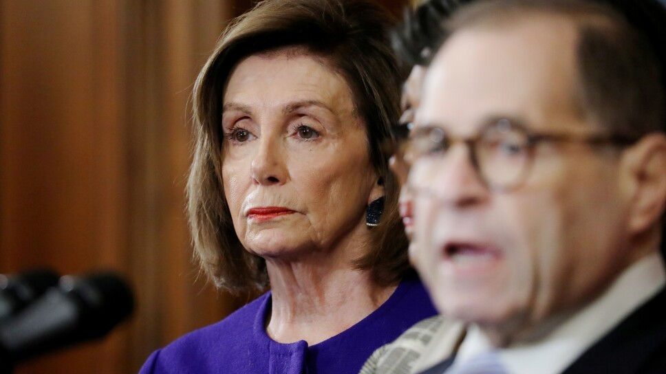 House Democrats announce articles of impeachment against President Trump on Capitol Hill in Washington