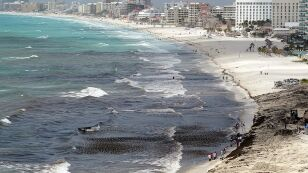 Cancun cleaned up after tropical storm Ernesto