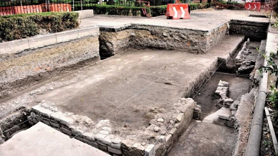 Hallan plataforma doméstica mexica en centro histórico de Azcapotzalco
