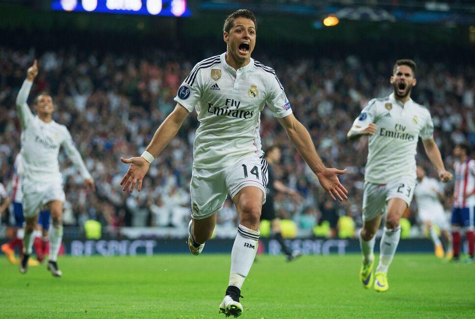 Gol ante el Atlético de Madrid siendo jugador del Real Madrid, en partido de vuelta de cuartos de final de Champions League, 22 de abril de 2015.