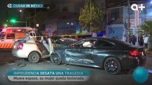Hombre ebrio desata una tragedia impactándose con un carro.
