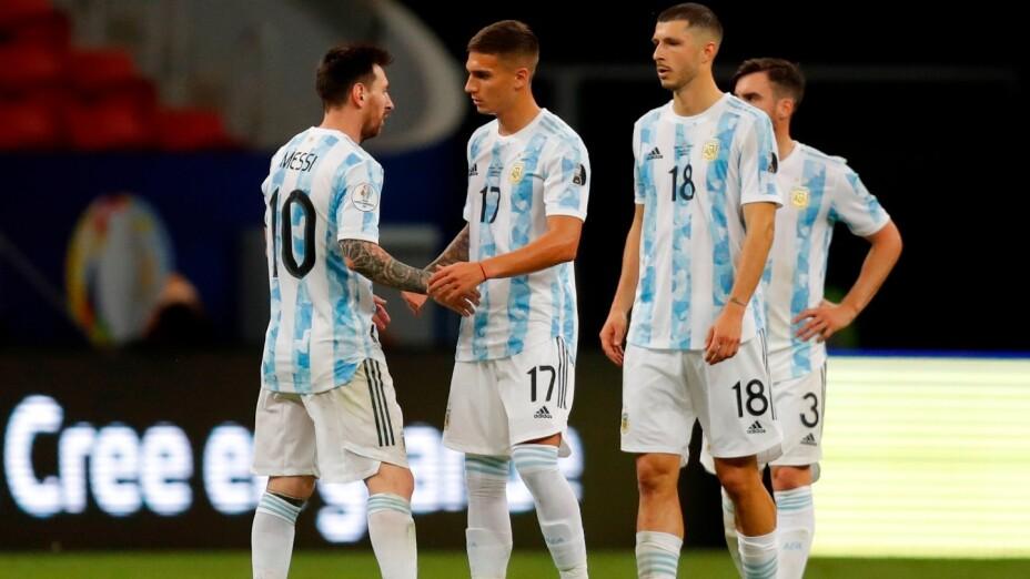 Argentina, en un juego de la Copa América