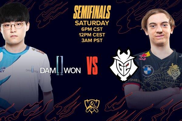 Semifinal entre Damwon y G2 Esports