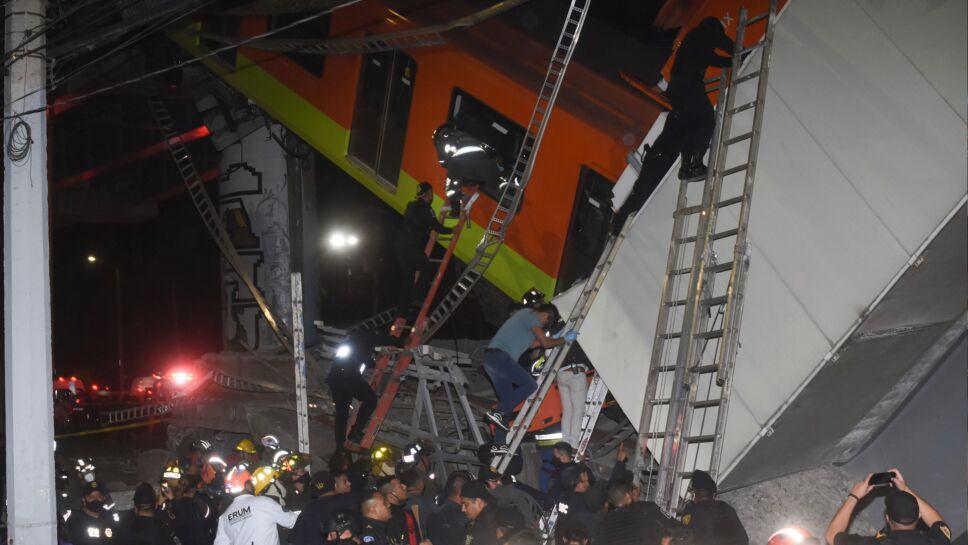 Rescate de víctimas de derrumbe del Metro de Línea 12 en CDMX