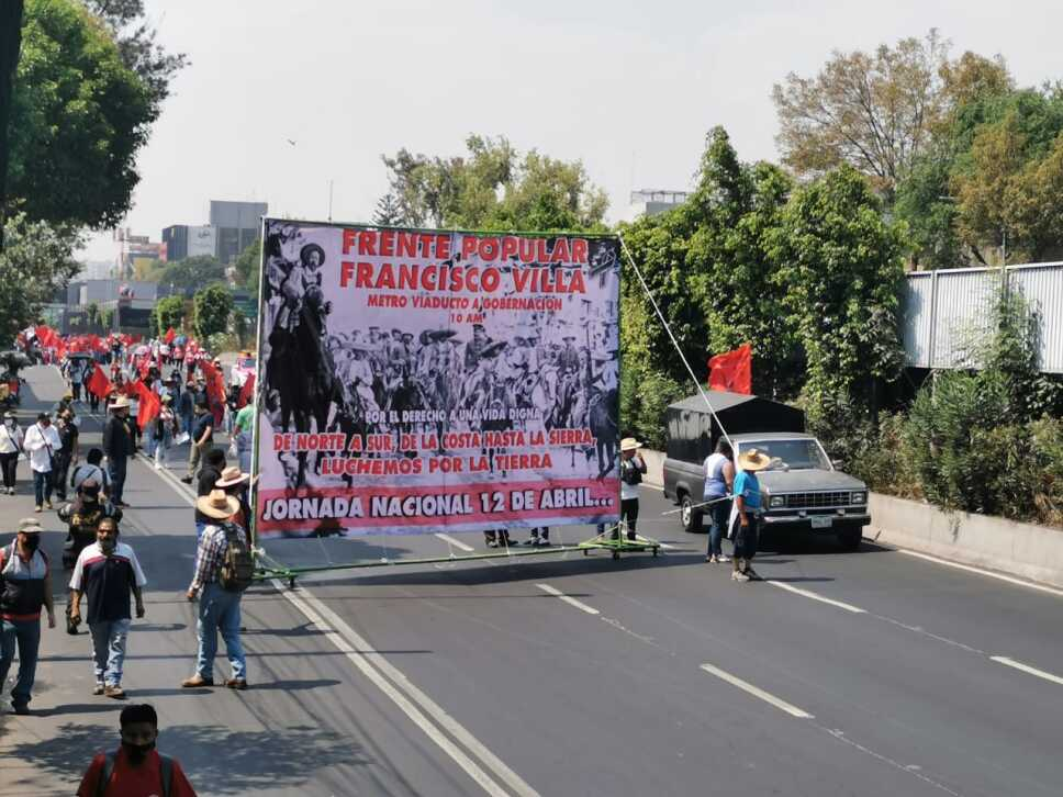 Manifestación Frente Popular Francisco Villa