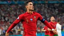 Cristiano Ronaldo celebra un gol con Portugal