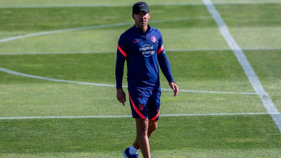 Diego Simeone, con el Atlético de Madrid
