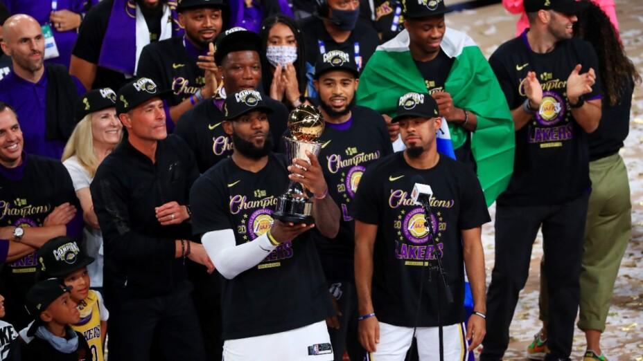 los lakers son campeones de la NBA