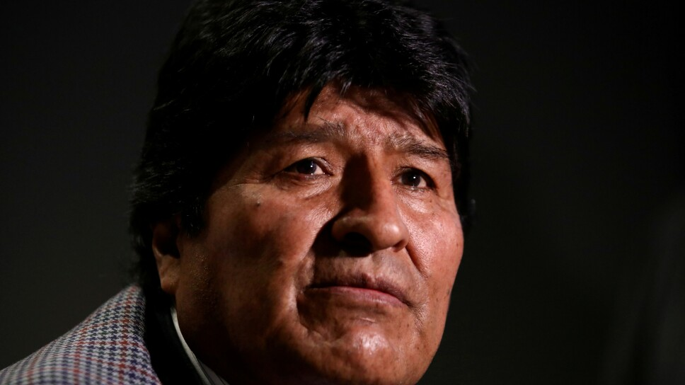 FILE PHOTO: Former Bolivian President Evo Morales attends an interview with Reuters in Mexico City