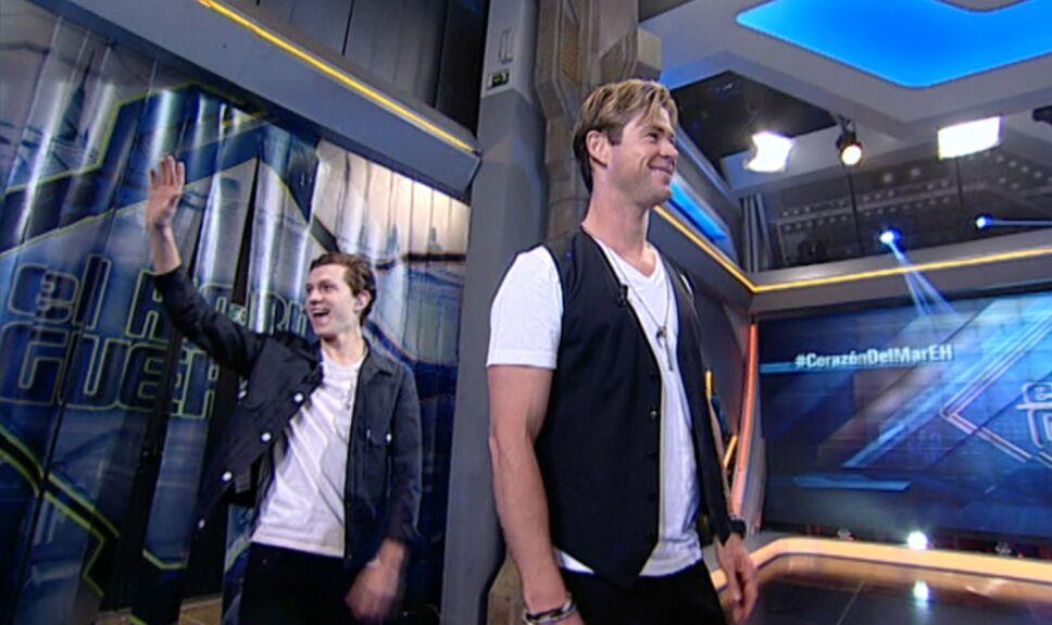 Chris Hemsworth y Tom Holland visitan El Hormiguero