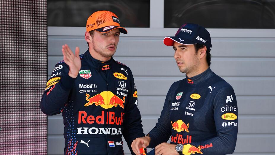 Checo Pérez y Max Verstappen