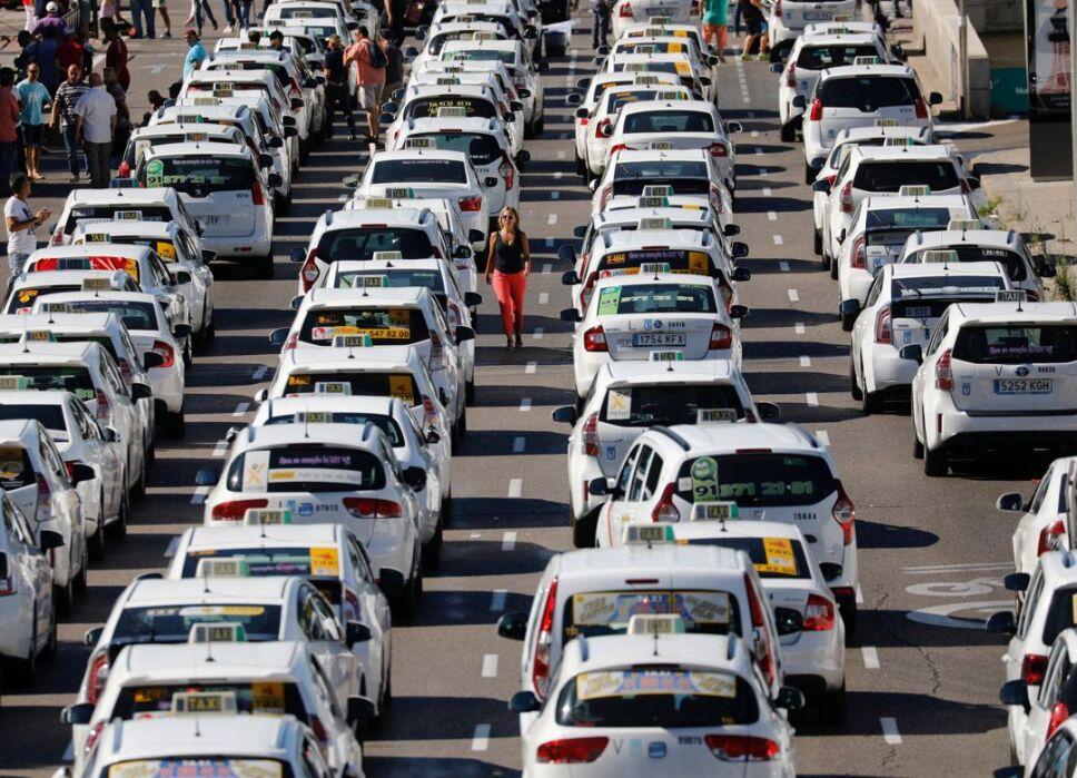 huelga españa taxis3