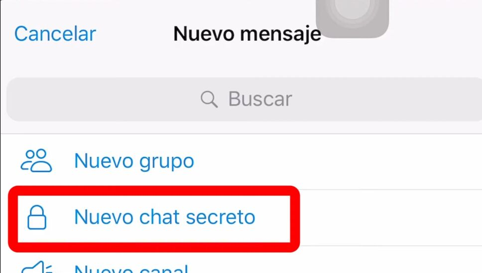 Opción de chat secreto en Telegram, para autodestruir Mensajes.jpg