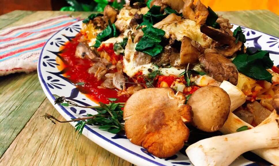Receta  Lasaña de espinaca con hongos Cocineros Mexicanos