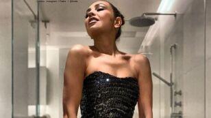 Thalía fue criticada por posar en el baño.