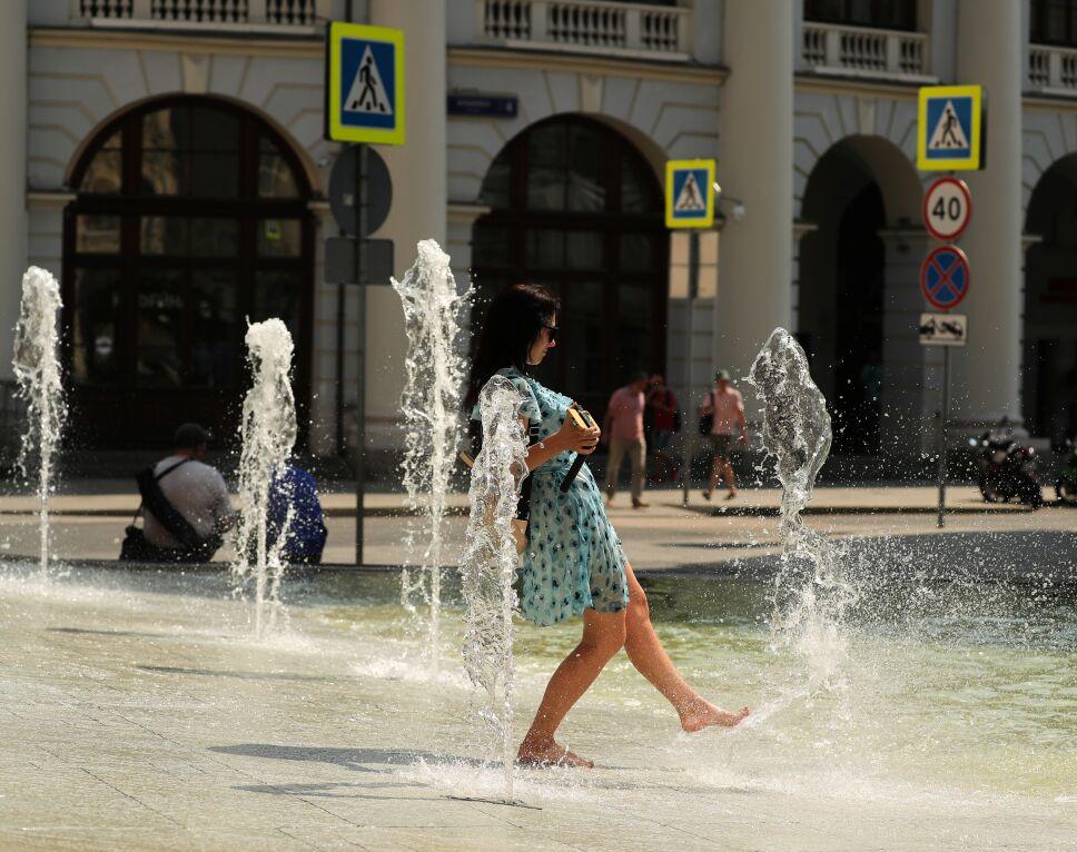 Temperaturas récord por ola de calor en Rusia.