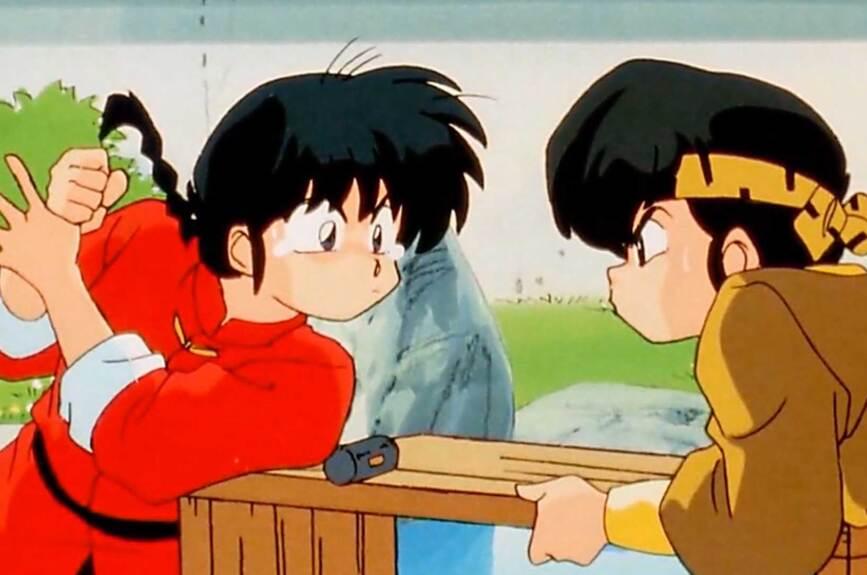 Ranma Saotome es el único hijo de Genma y Nodoka.