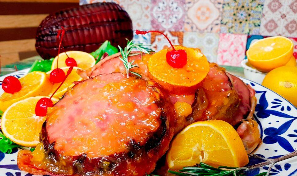 Jamón en salsa de naranja