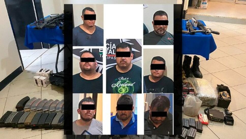 El gobierno de Tamaulipas, informó que elementos del Grupo de Operaciones Especiales detuvieron a 8 personas presuntamente vinculadas con la masacre de Reynosa.