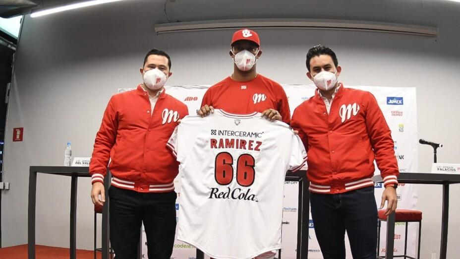 JC Ramirez con los Diablos Rojos