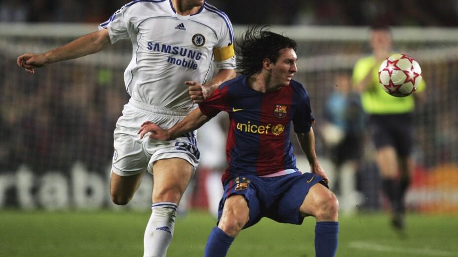 Messi y John Terry en la Champions 2005/06