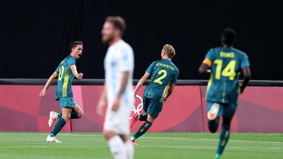 Argentina perdió 2-0 contra Australia en futbol Tokio 2020