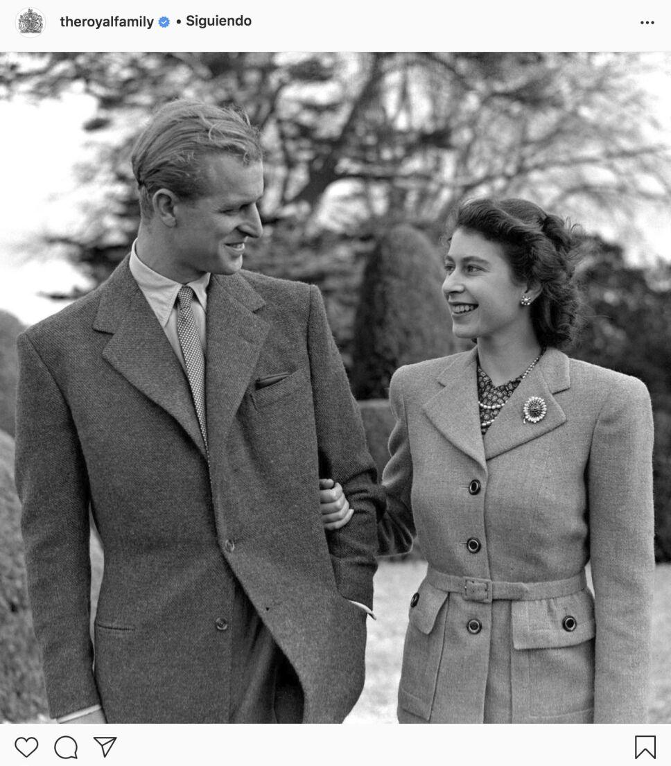 Felipe y la reina Isabel jóvenes
