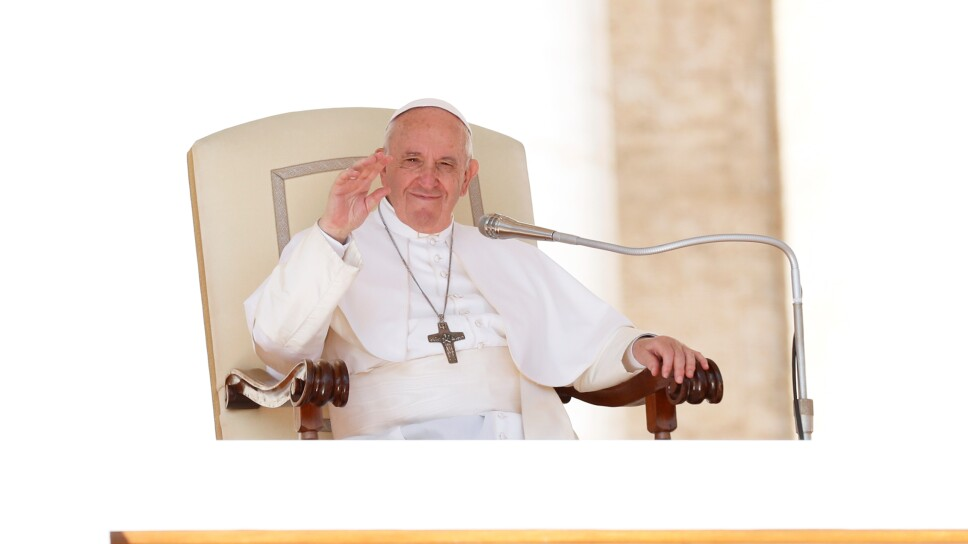 Foto de artchivo del Papa Francisco celebrando una audiencia en el Vaticano