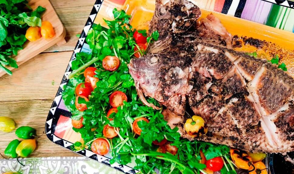 Receta Tilapia frita con habanero quemado
